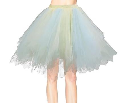 Damen tüllrock kurz petticoat unterrock tütü rock party kleid ...