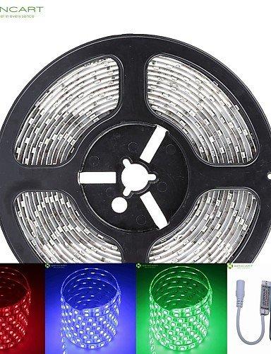 HJLHYL MND5m 75w 300x5050 SMD llev dc12v tira de luz IP68 resistente al agua + rgb de control remoto 10KEY