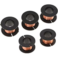 Baoblaze 5Pcs 15m 0.1mm Diameter Magnet Wire Enameled Copper Wire Round Magnetic Coil Winding