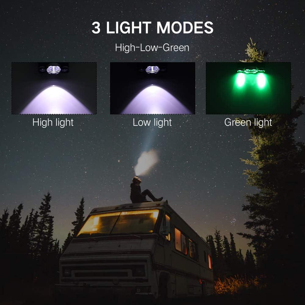 USB LED ULTRA BRIGHT HEAD TORCH LIGHT LAMP CAMPING HIKING FISHING LIGHTING  ab