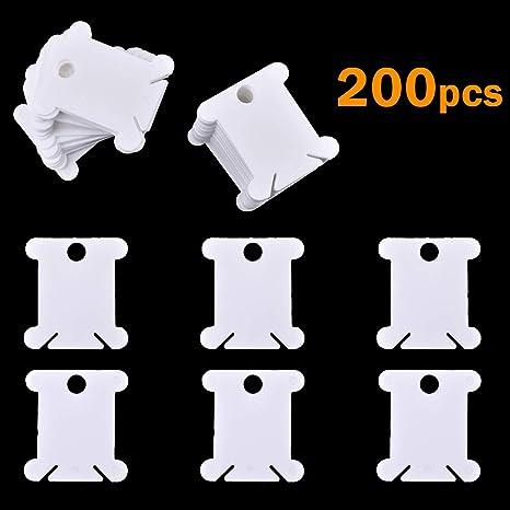 Wei/ß Healifty 120/Kunststoff Floss Spulen Stickgarn Karten Kreuzstich Bobbin Gewinde Organizer Craft DIY N/ähen Aufbewahrung