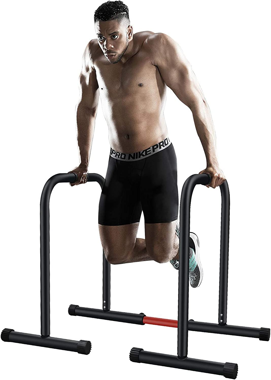Sehrgo ZEHNHASE Barras paralelas estación de Fitness, Push Up Bars de Inmersión Ajustable Entrenamineto Musculación Gimnasio Doméstico
