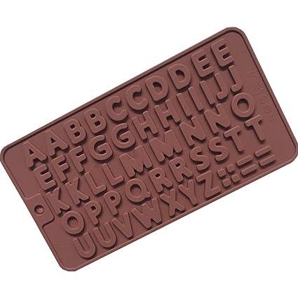 Alfabeto Inglés Símbolo Silicona Torta Molde Hielo Bandeja Molde Chocolate Helado Hornear Decoración Cocina Molde Para