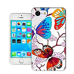 X-Cases Butterfly Pattern TPU Hard Cover Case iPhone5/5c
