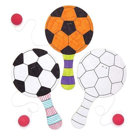 Baker Ross- Paleta y Bola de fútbol para Colorear (Pack de 5 ...
