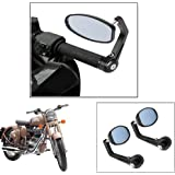 Vheelocity Motorycle Bar End Mirror Rear View Mirror OvalFor Royal Enfield Classic