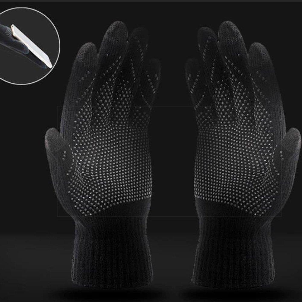LvLoFit /écran Tactile Thermiques Gants de Hiver Tricot en Laine Polaire Coton Chaude pour Running Sport Cyclisme Voiture Homme Femme