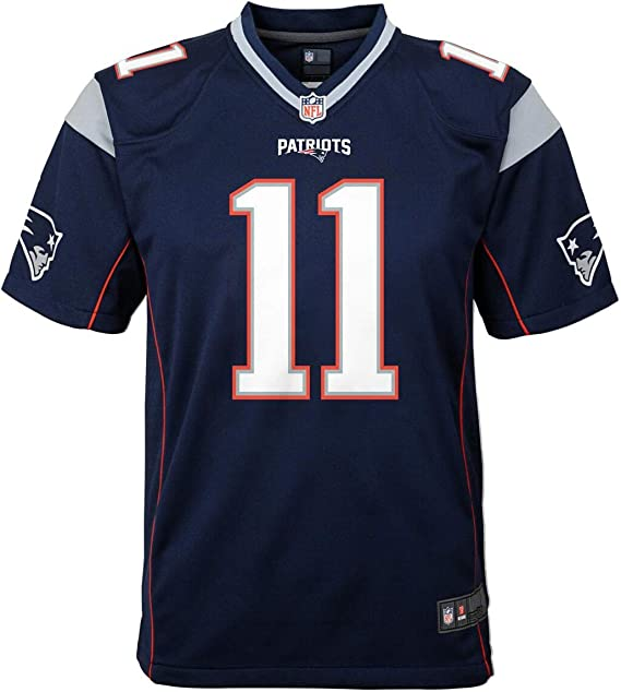 Julian Edelman Patriots #11 Youth Game Team Jersey Navy (Youth ...