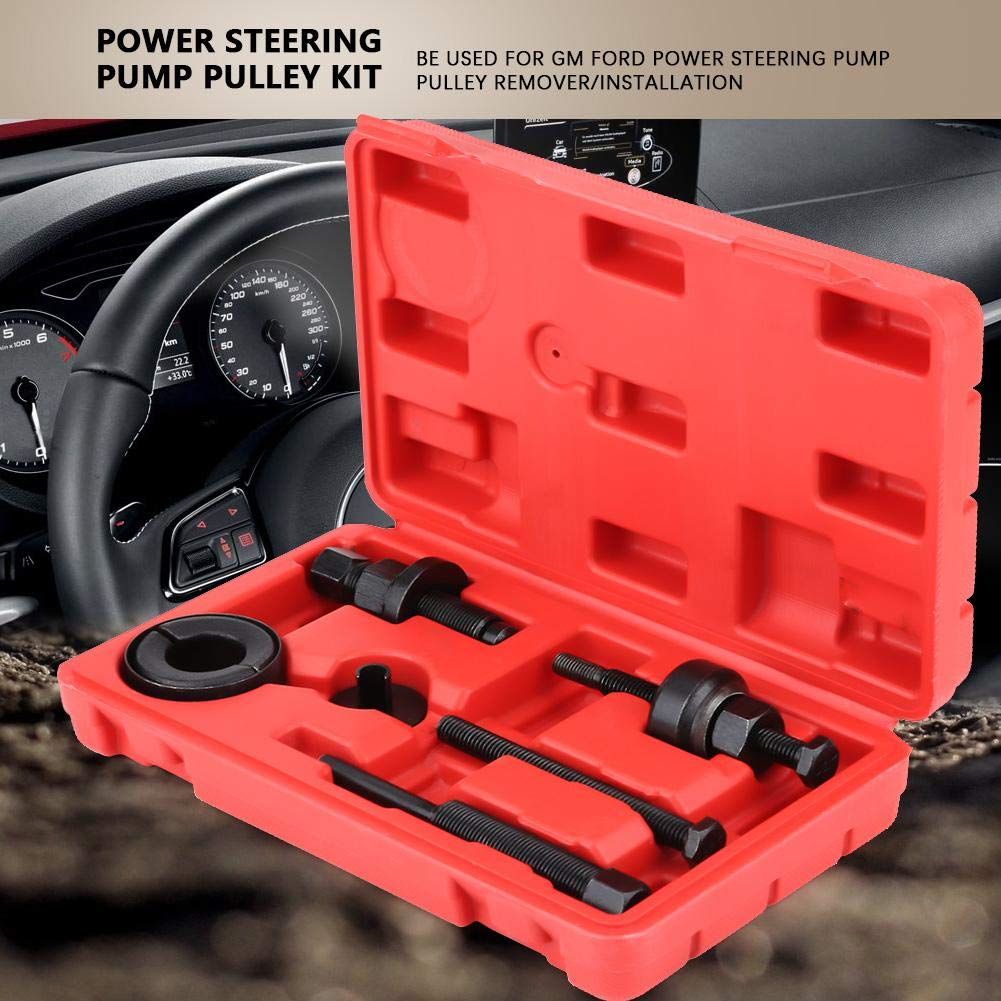 6 Pcs Power Bearing Hub Puller Extractor Installation Tools Set for C2 C111 Steering Pump Pulley Kit