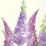 Ideal Home Range 20 Count Buddleia Cream Paper Luncheon Napkins