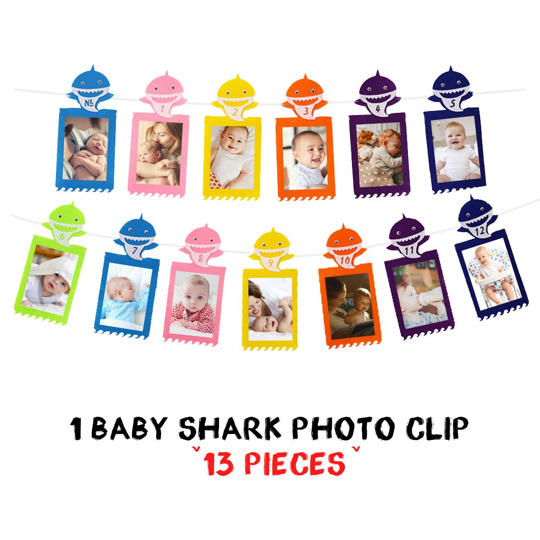 Jollyboom Baby Shark Theme Party Supplies para niñas y niños ...