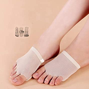 089f541e37 Ballet Dance Paws Cover Toe Pad Microfiber Belly Arch Support Plantar Brace  Dancing Practice Half Shoes