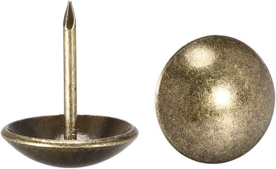 60 St/ück Sourcing Map Polstern/ägel antike runde Rei/ßn/ägel Bronzefarben