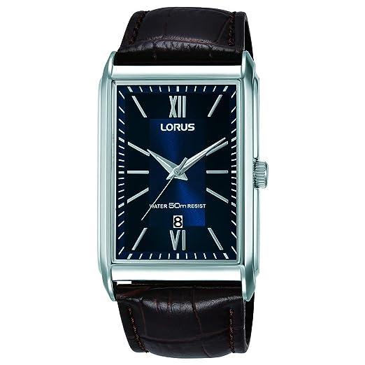 Lorus Reloj Analógico para Hombre de Cuarzo con Correa en Cuero RH911JX9: Amazon.es: Relojes