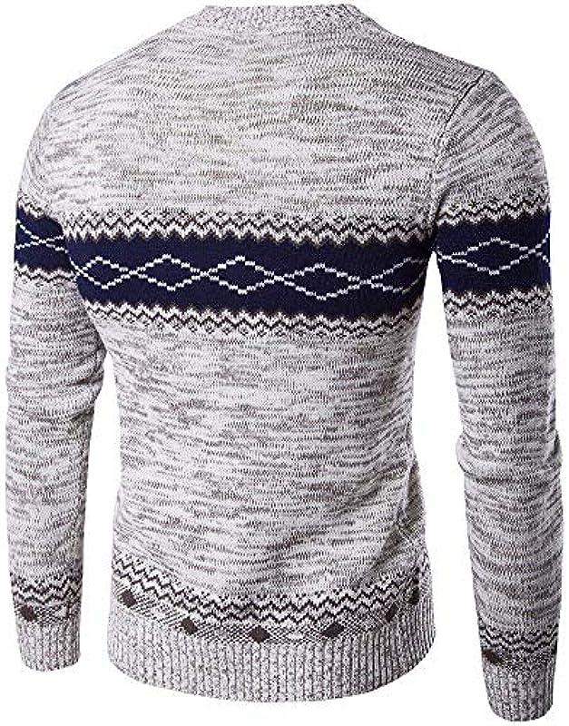 Męski sweter jesień i zima moda ciepły sweter grube dzierganie elegancki nadruk długi rękaw Slim Fit sweter dziergany: Odzież
