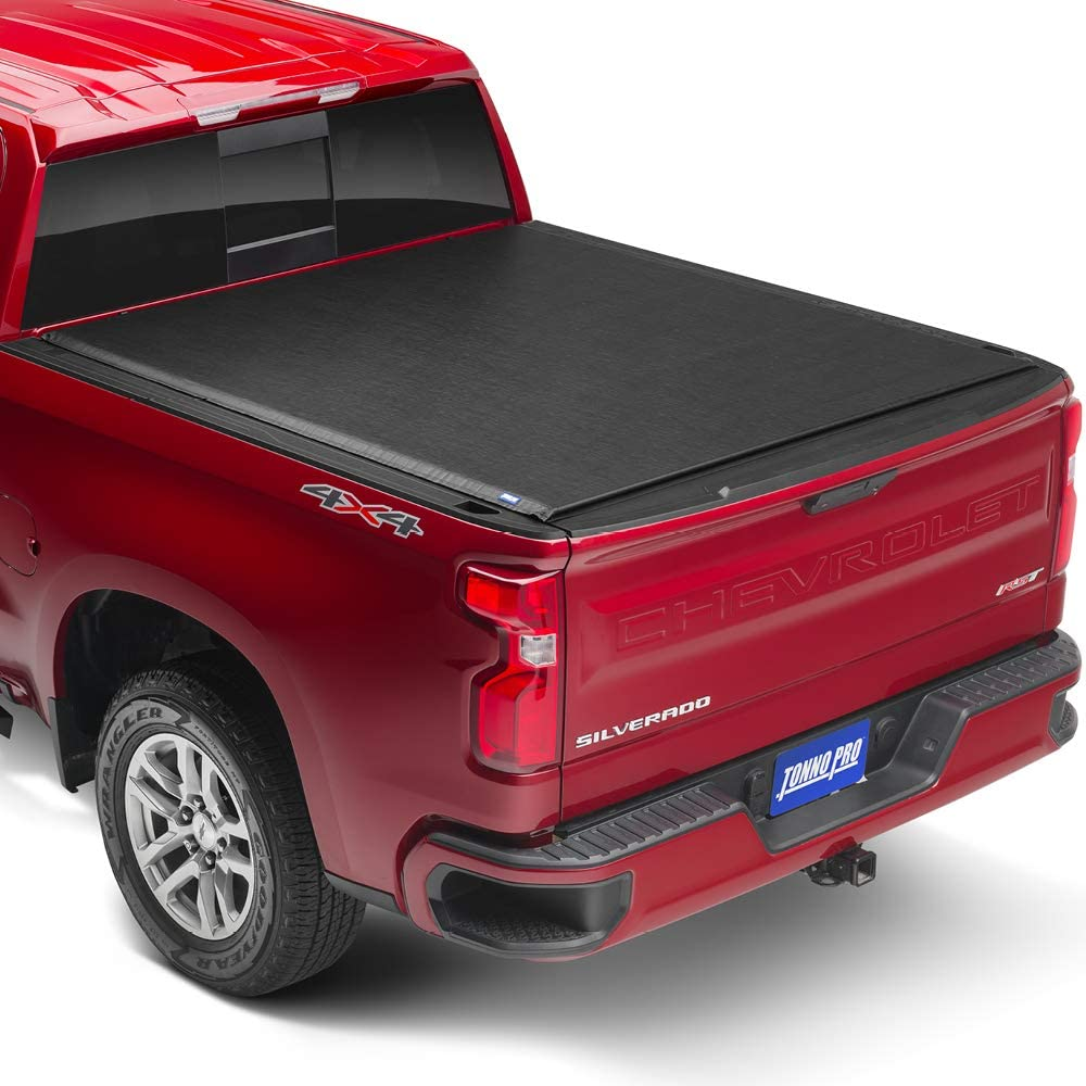 Tonno Pro LR-1100 Lo Black Roll-Up Truck Tonneau Cover/for 2019 Silverado 1500 with 6.6 Bed