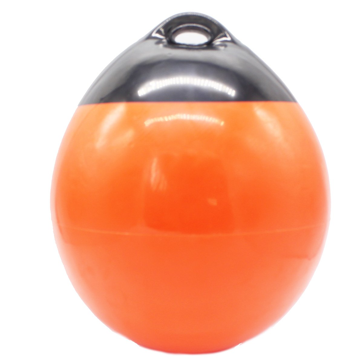 X-Haibei 1 Boat Fender Ball Round Anchor Buoy | Dock Bumper Ball Inflatable Vinyl A-Series Shield Protection Marine Mooring Buoy Orange, A25 D 9.8 H 12.2INCH