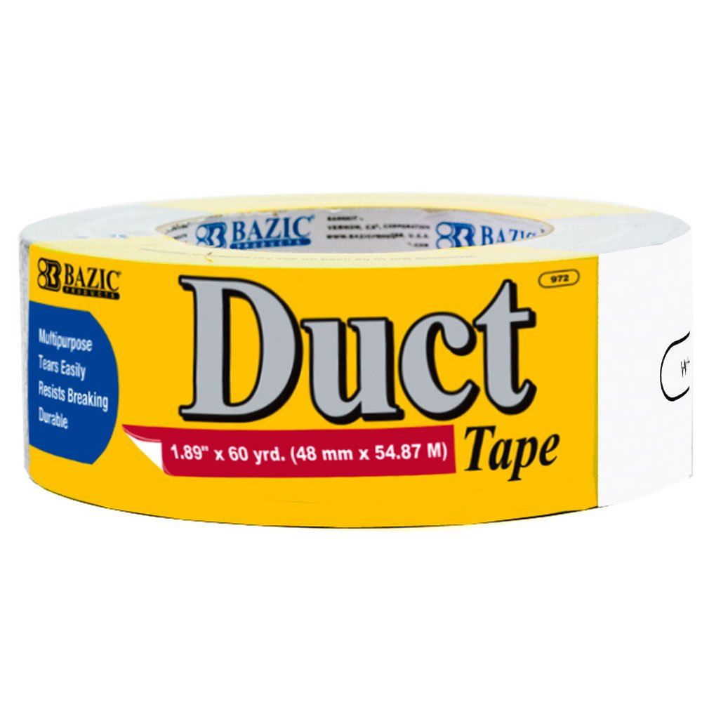 BAZIC 1.88'' X 60 Yards White Duct Tape (Case of 12)