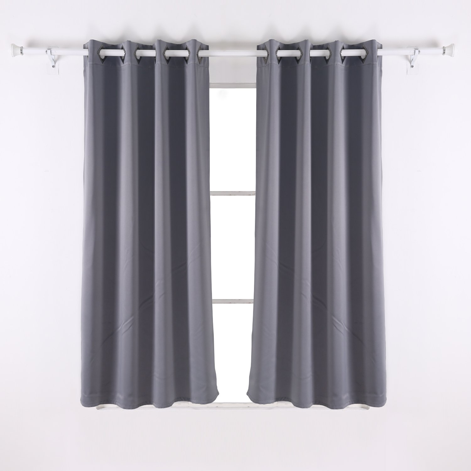 Amazon.com: Deconovo Solid Room Darkening Curtains Thermal ... for Off White Bedroom Curtains  155sfw