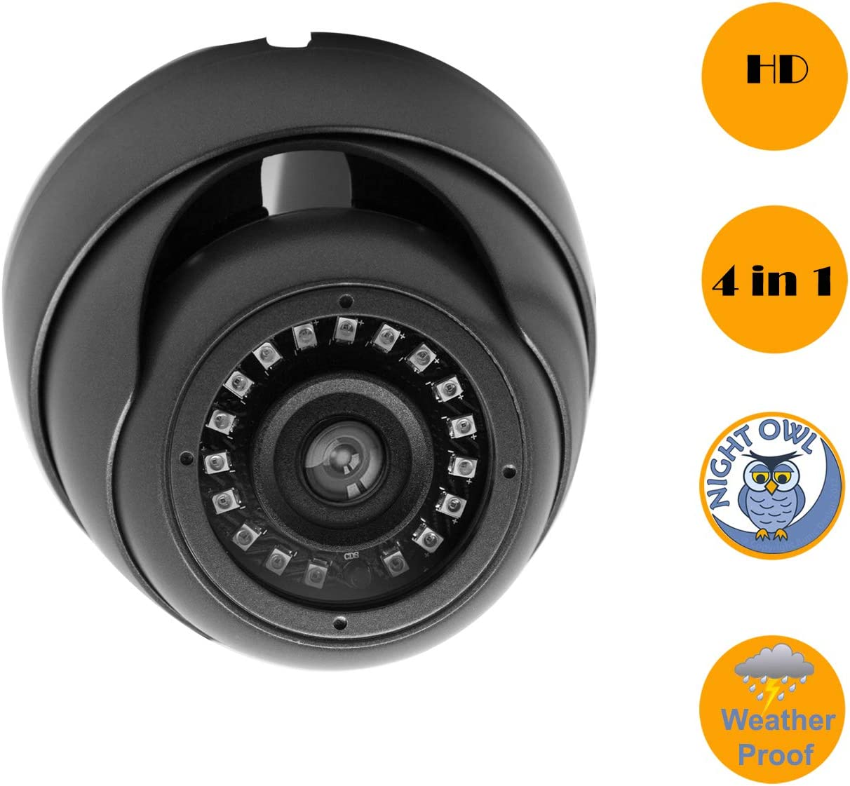 InstallerCCTV Security Surveillance Dome Camera, 1080P AHD CVI TVI 960H, Day Night Vision 18 Laser LEDs IP66 Analog Outdoor Indoor Wide Angle 3.6mm 3.0 Megapixels Lens for CCTV Surveillance Camera