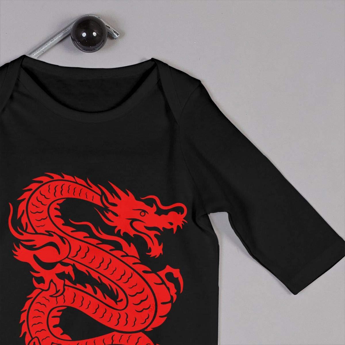 Dragon Chinese Toddler Baby Boy Girl Long Sleeve Gentleman Bodysuit