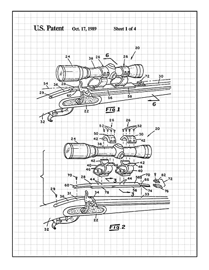 Amazon Com Scope Mount Base For A Black Powder Rifle Patent Print