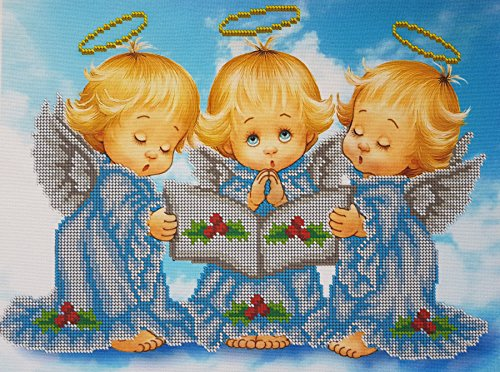 Bead Embroidery kit Almost Perfect Needlework Baby Angel Nursery DIY Wall Decor Child Cross Stitch Wall Hanging Cross Stitch Pattern Gift