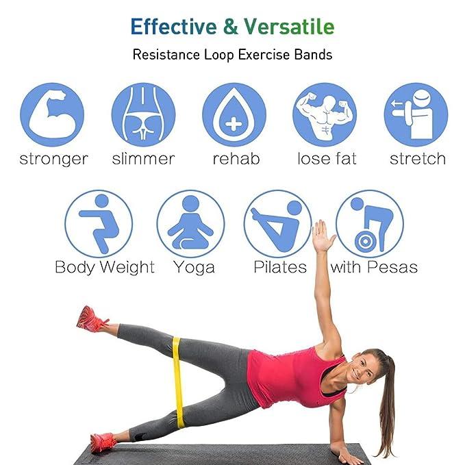 fitpolo Bandas de Bucle de Resistencia, Bandas de flexión de látex Natural para piernas, glúteos, Crossfit, Fisioterapia y Entrenamiento de Fuerza, ...