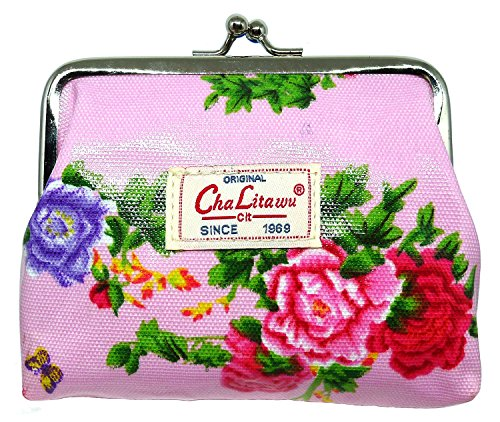BDJ Garden Flower Oilcloth Kisslock Coin Purse - Online Shop Oroton