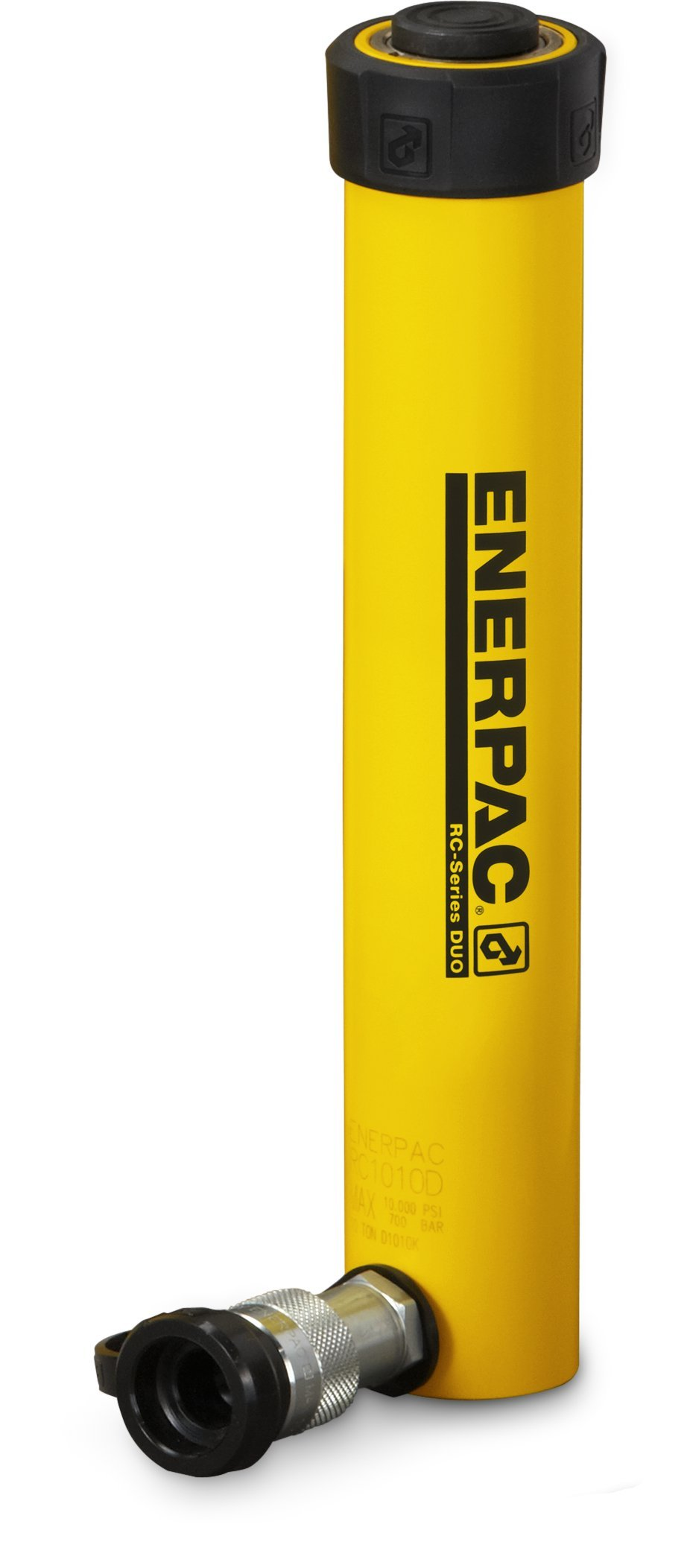 Enerpac RC-1010 Single-Acting Alloy Steel Hydraulic Cylinder with 10 Ton Capacity, Single Port, 10.13'' Stroke by Enerpac (Image #1)