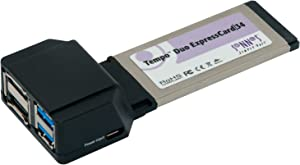Sonnet Technologies TSATA6USB3 E34 Tempo Duo Express Card (6GB/s eSATA USB 3.0