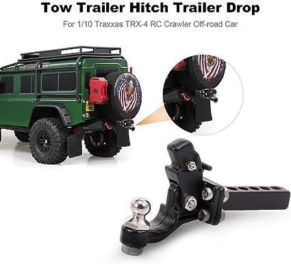 2Pcs RC Car Crawler Bumper Trailer Metal Shackle Tow Hooks for Traxxas TRX4 New