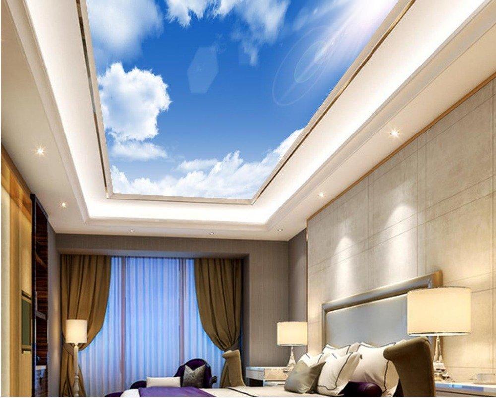 Wapel 3 次元の壁紙の壁画の青空の雲の天井のカスタム 3 次元フォトウォールペーパー天井壁装飾不織のフレスコ画 絹の布 200x140CM B078NSY772 200x140CM