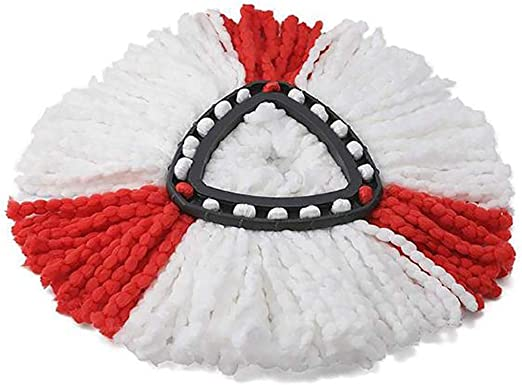 samifa Home Household White Easy Wring Spin Mop Refill Steam Mops