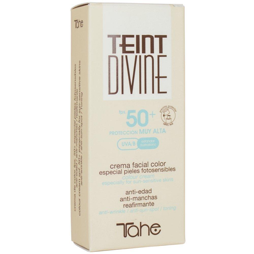 Tahe Teint Divine Crema Facial con Color y Protección Solar Muy Alta F.P.S 50+, para Todo Tipo de Pieles, Nº1, 50 ml: Amazon.es: Belleza