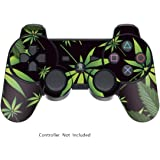 247Skins - Sticker de Protection pour Manette PS3 Playstation 3 Sony - Weeds Black