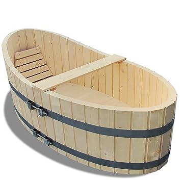 Holz Badewanne Badezuber 178x87cm Inkl Ablaufhahn Amazon De Baumarkt
