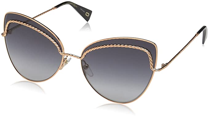 0c54713c9c9f Image Unavailable. Image not available for. Color: Marc Jacobs Women's  Marc255s Cateye Sunglasses GOLD COPP 61 mm