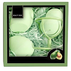 Makeup Sponge,Multi-Purpose Cosmetic Applicator Puff Support Display Stand,Beauty Blender Holder Beauty Makeup Sponge Blender Set 3Pcs