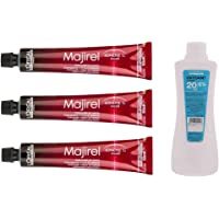 L'Oreal Majirel with Oxydant Hair Colour Cream, 50ml and 1000ml - Pack of 3)