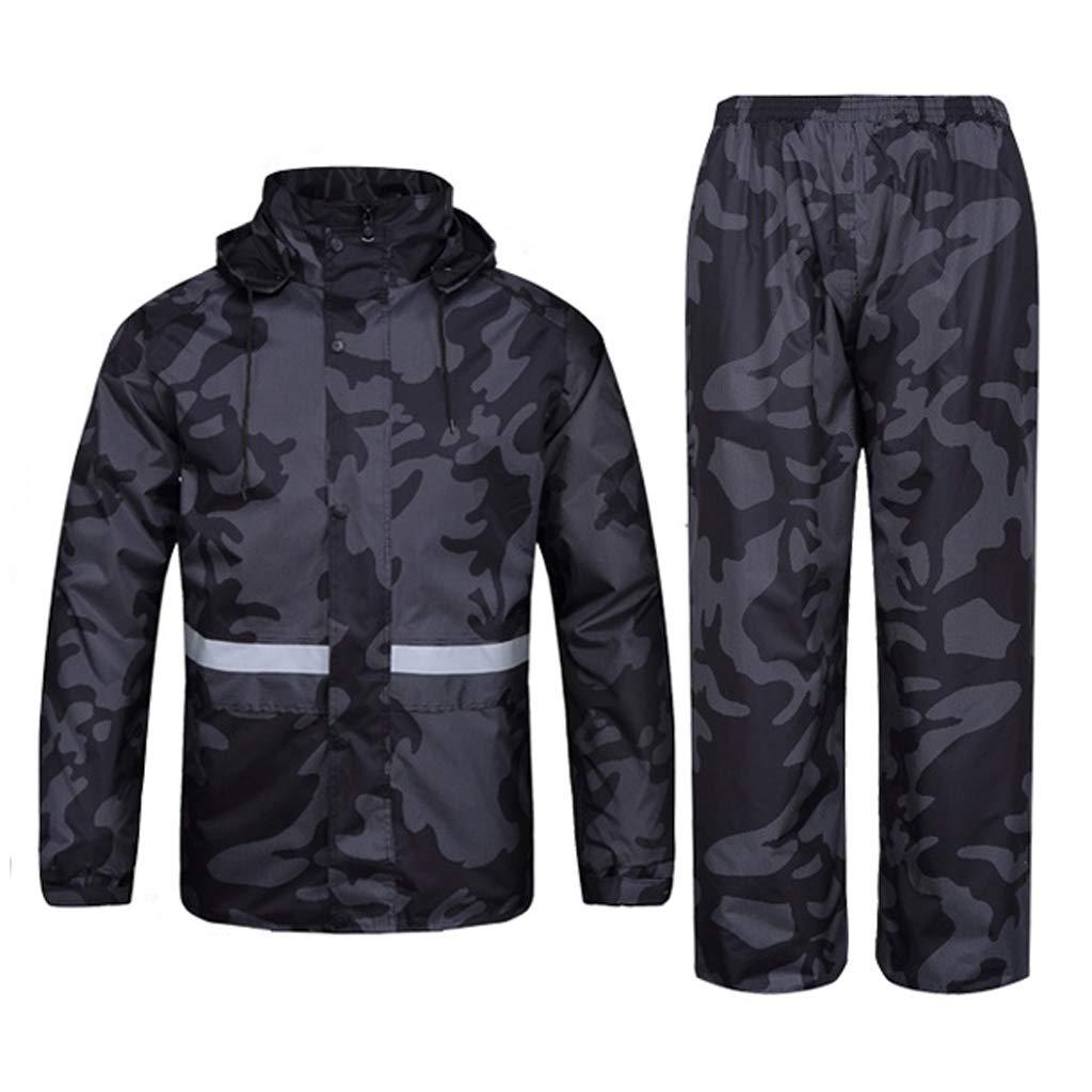 Herren Regenbekleidung Hosenanzug Atmungsaktive Jacke Damen Split Regenmantel Winddicht Motorrad Windjacke für Outdoor Sport Camping Laufen Angeln Ski
