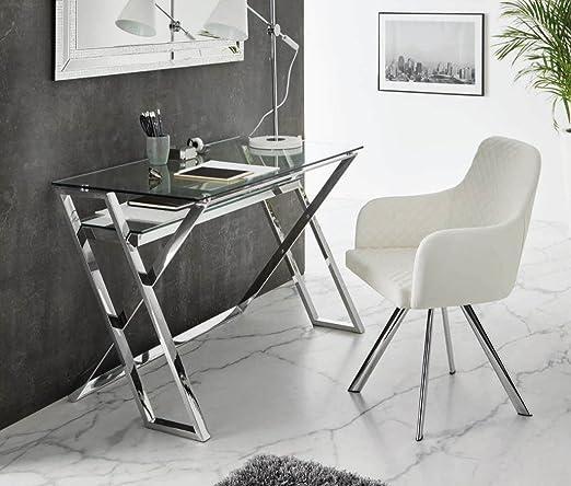 DUGARHOME - Escritorios Modernos - Mueble DK-905 Acero/Cristal ...