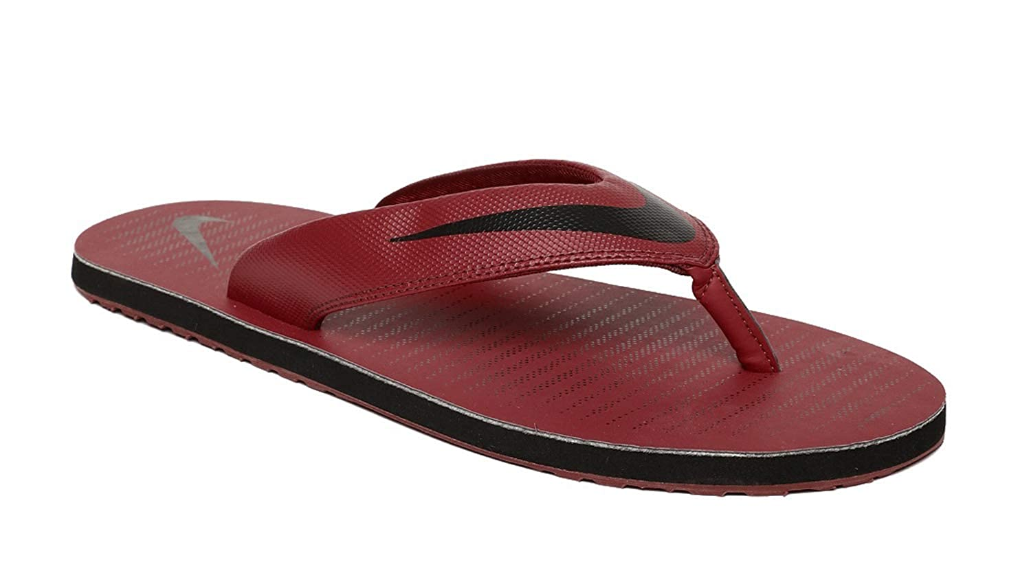 eea2c76ce Nike Men s Chroma Thong 5 Red Crush Black Flip Flops (833808-604)  Buy  Online at Low Prices in India - Amazon.in