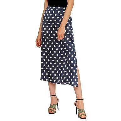 DISSA D1883 - Falda para Mujer, diseño Boho 2019 Azul 42: Amazon ...