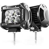 "Auxbeam 4"" LED Pods 18W Flood LED Light Bar 1800lm Driving light Off Road Lights for SUV ATV UTV Trucks Pickup Jeep Lamp (Pack of 2)"