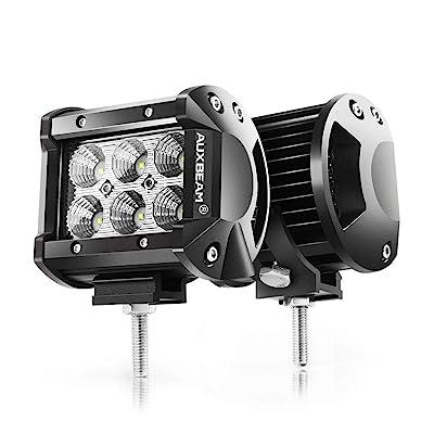"""Auxbeam 4"""" LED Pods 18W Flood LED Light Bar 1800lm Driving Light Off Road Lights"""