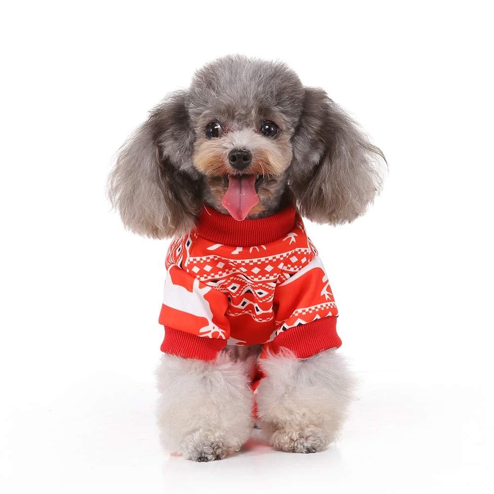 Handfly Pijamas para Perros Monos para Perros peque/ños Trajes de Perros navide/ños Disfraz de Gato de Santa Ropa de Traje de Dormir para Perros y Gatos