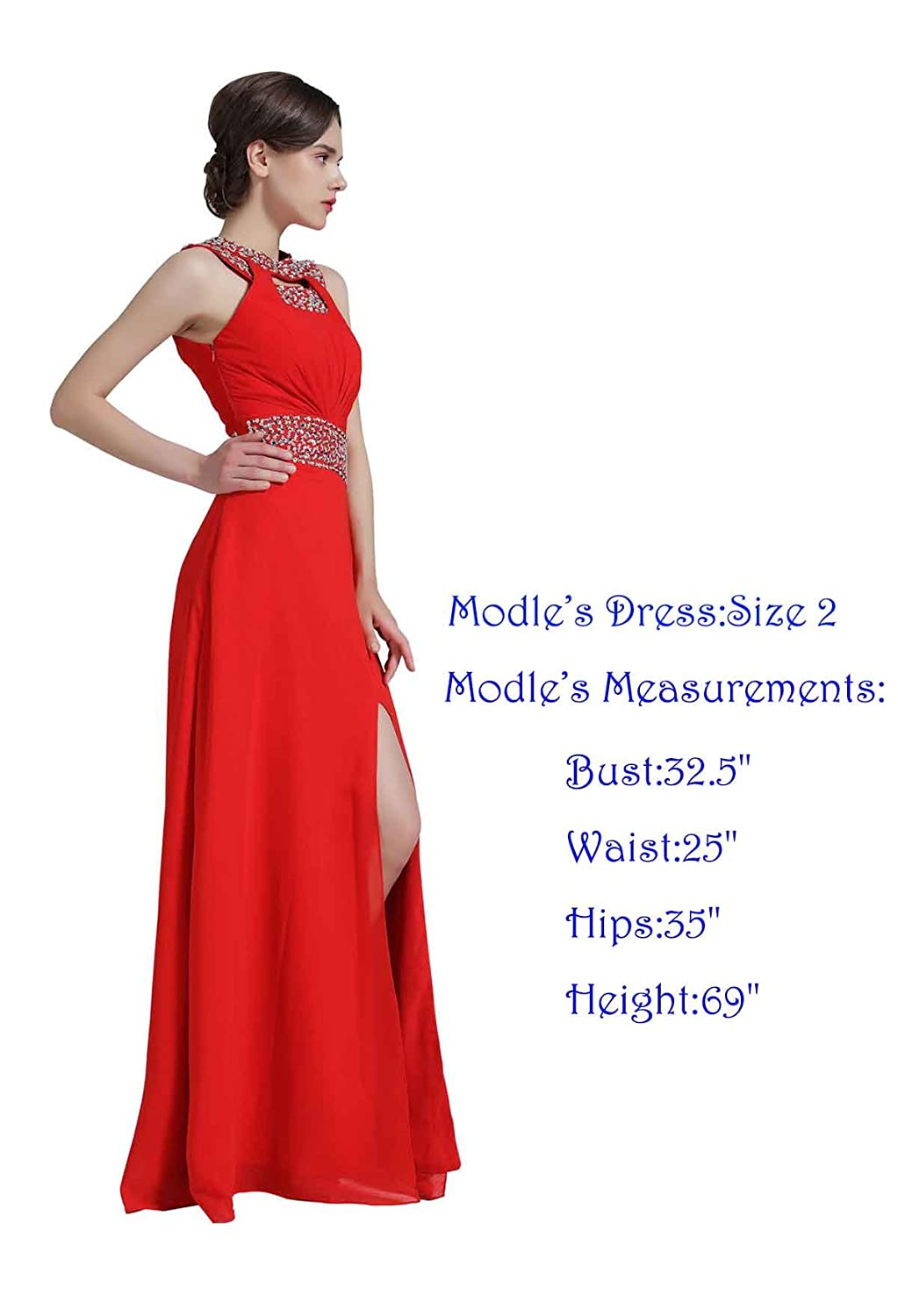 Missydress beaded bridesmaid evening party prom chiffon gown missydress beaded bridesmaid evening party prom chiffon gown dress15 at amazon womens clothing store ombrellifo Images
