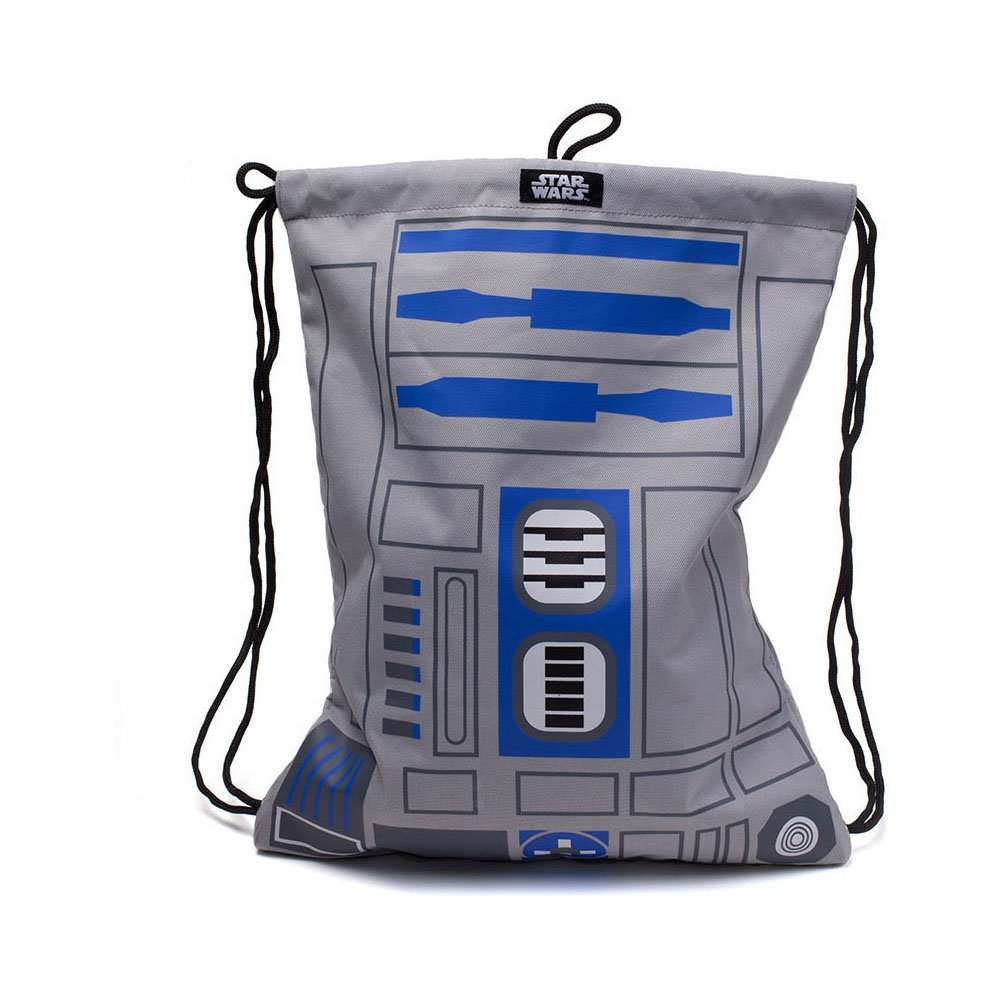 Bioworld Star Wars R2D2 Gym Bag, Multi-Colour (Ci767625Str) Gym Tote, 44cm, Grey BIO-CI767625STR