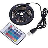 USB式 RGB 5050SMD 60LED ノートパソコン/TV バックライト 柔軟なストリップ 自転車のホイールライト 変色ライト 1.5M